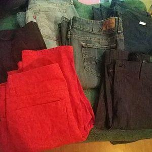 SOLD 6 pr jeans bundle size 10